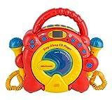 Idena 40285 CD Player Sing Along für Kinder, tragbar und batteriebetrieben, mit LED...