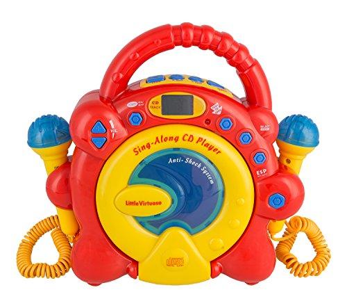 Idena CD-speler Sing Along, met twee microfoons en led-display nicht zutreffend rood/geel