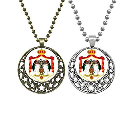 Jordan Asia National Emblem Lovers Necklaces Pendant Retro Moon Stars Jewelry