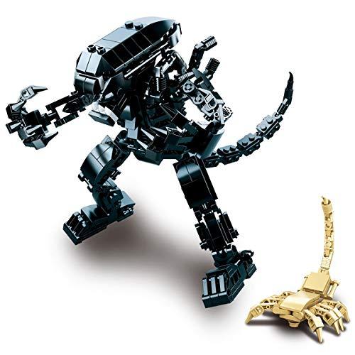 LionMoc Moc Creator Mech - 'The Predator' DIY Mecha Building Block Bricks Machine Toy Compatible with Lego Building Set (Alien)