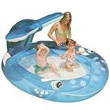 Planschbecken Badespaß Schwimmbad Wal für Kleinkinder mit Spritzdüse