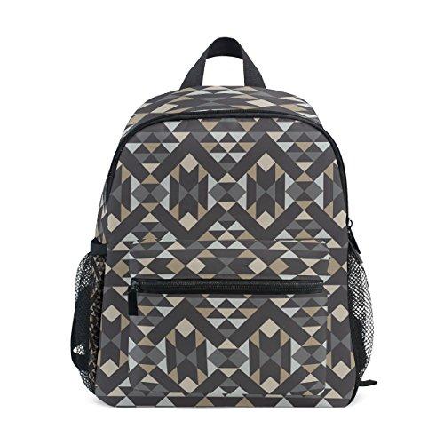 Mochila abstracta geométrica del niño del patrón de los niños de la tela cruzada de la escuela de la armadura del bolso perfecto para la escuela o el viaje
