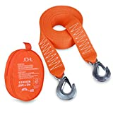 "JCHL Tow Strap Heavy Duty with Hooks 2""x20' 15,000LB Recovery Strap 6,8 Tons Towing Strap with Safety Hooks Polyester"