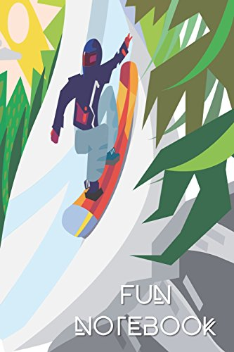 Fun Notebook: Boys Books - Mini Composition Notebook - Ages 6 -12 - Snowboarding