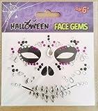 Halloween Sugar Skull Face Gems Jewels Diamante Stones Creepy Temporary Body Art Festival Fun...