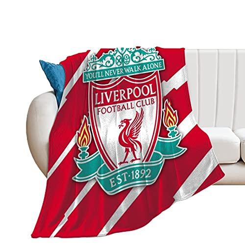 QHDS Liverpool - Mantas de microfibra ultrasuaves para el hogar, sofá, cama, sofá, acogedoras y ligeras para todas las estaciones de regalo, manta impresa en 3D, para niños y adultos, 150 x 100 cm