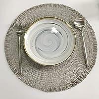 テーブルマット1ピースの断熱材のテーブルマット38cmの丸い繊細な刺繍デザートパンテーブルプラセマット滑り止めコーヒーカップマット (色 : G)