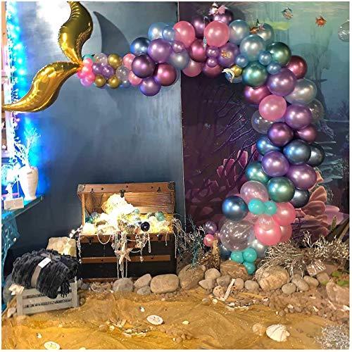 Mermaid Party Supplies, Mermaid Tail Balloon Arch Garland Set, Mermaid Arch Kit, for Mermaid Birthday Supplies, Under The Sea Party, Ocean Theme Party Supplies, Undersea Prefabricated