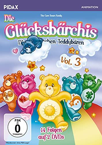 Die Glücksbärchis - Die himmlischen Teddybären, Vol. 3 / Weitere 14 Folgen der beliebten Kult-Serie (Pidax Animation) [2 DVDs]