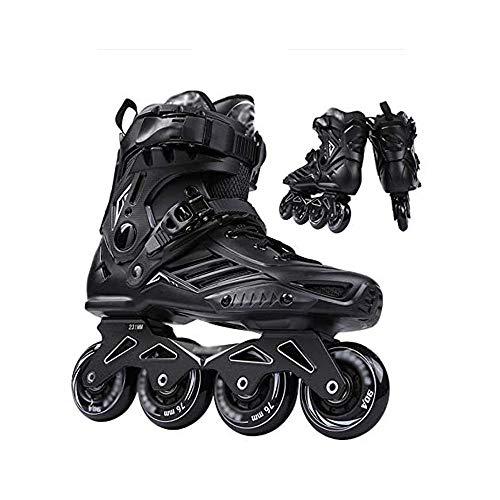 L&WB Inline Skates Damen Rollerblades Für Erwachsene Inline Skates Herren Antikollisionsfest, Verschleißfest, Atmungsaktiv, Komfortabel Inliner Herren Roller Skates,Schwarz,38