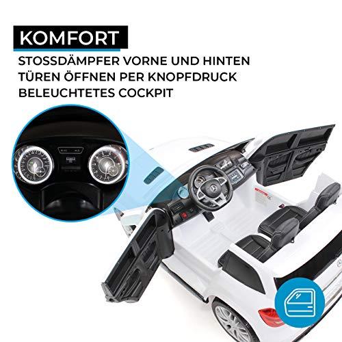 RC Auto kaufen Kinderauto Bild 4: Actionbikes Motors Kinder Elektroauto Mercedes GLS63 Allrad Leder Sitz Kinderfahrzeug Kinderauto 45 Watt 2 Sitzer (Weiß)*