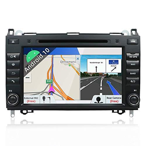 Estéreo del coche del dinar del doble de PX6 Android 10 apto para la unidad principal del Benz Viano / Sprinter / W906 |4G + 64G 8 pulgadas |Cámara de respaldo Canbus gratis | Soporte HDMI 4K Video