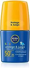 NIVEA SUN Roll-On Solar Niños Protege & Juega FP50+ (1 x 50 ml), protector solar roll-on para niños, crema solar resistente al agua, protección solar muy alta