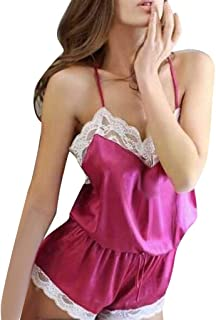 48a79ee9319 Sakd Women Ladies Nightgown Sexy Plus Size Babydoll Plus Size Lace Lingerie  Temptation V Neck Underwear