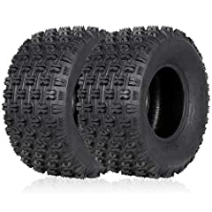 Tire Size: 20x10-9; Set of 2; Type: Tubeless; Speed Rating: L; 4-Ply bias construction; DOT approved, wheel is not included. Premium rubber compounds offer better traction and puncture resistance. Unique tread patterns design provides excellent tract...