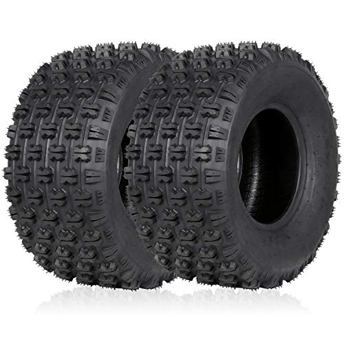"Weize Set of 2 ATV Tires 20X10-9, 4 Ply, Sport Rear UTV Tire 20-10-9 20x10x9, Fit All 9"" Rim"