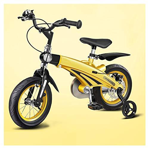 KXDLR kinderfiets voor 2-9 jaar oud, 12 14 16 inch fiets met trainingswielen, verstelbare lengte en hoogte, magnesiumlegering kinderfiets