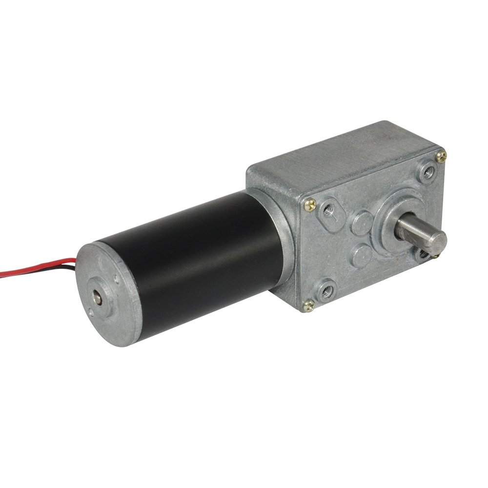 TSINY DC 6V Low Speed 1 RPM Geared Reducer Motor with Worm Gear Box for Robot Parts