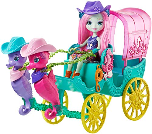 Enchantimals - Carroza de muñecas Caballito de Mar, Multicolor (Mattel FKV61)