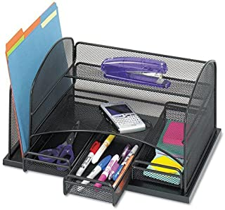 Three Drawer Organizer, Steel, 16 x 11 1/2 x 8 1/4, Black (Renewed)