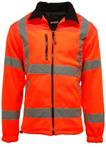 Chaqueta forro polar alta visibilidad/seguridad en el trabajo para hombre, 100% poliéster