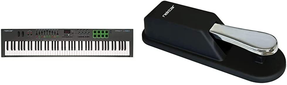 The Ideal Accessory for MIDI Keyboards Digital Pianos Nektar Impact LX88+ USB MIDI Keyboard Controller with DAW Integration /& M-Audio SP-2 Universal Sustain Pedal with Piano Style Action