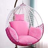 スイング 椅子 クッション バックパッド,厚い 巣 ハンモック チェアークッション パッド 入り 床枕 パティオ 庭 ラウンジチェアマット チェアパッド 洗える ピンク 145x120cm