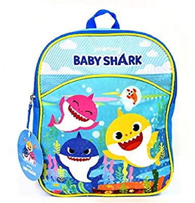"3 Baby Shark 11"" Mini Backpack"