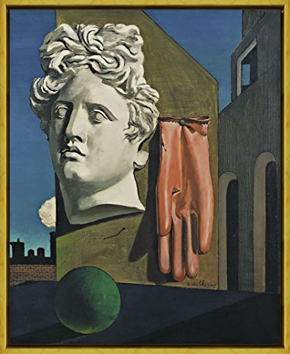 Berkin Arts Framed Giorgio de Chirico Giclee Canvas Print Paintings Poster Reproduction(The Song of Love)