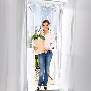 Easymaxx Turvorhang 90 X 210 Cm Magic Click Zum Schutz Vor Fliegen Und Anderen Insekten Praktischer Magnetverschluss Einfache Klebemontage Weiss Amazon De Baumarkt