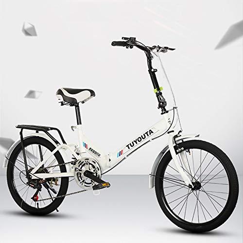 QIANSHION 20 Zoll Faltrad Leichtes Klapprad Mini Faltrad Kleines Mountainbikes Tragbares Fahrrad Mountainbike Jungen Mädchen Fahrrad & Herren Damen Fahrrad Für Erwachsener Student