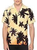 Sykooria Camicia Hawaiana da Uomo Maniche Corte, 3D Stampa Camicia a Maniche Corte, vestibilità Vintage