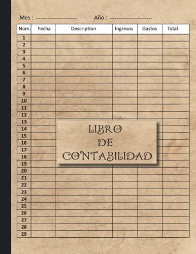 Libro de contabilidad: ingresos y gastos - Libro de cuentas contabilidad para autónomos y empresas Cuaderno para las cuentas de ingresos y gastos de ... | Libro de registro diario de caja