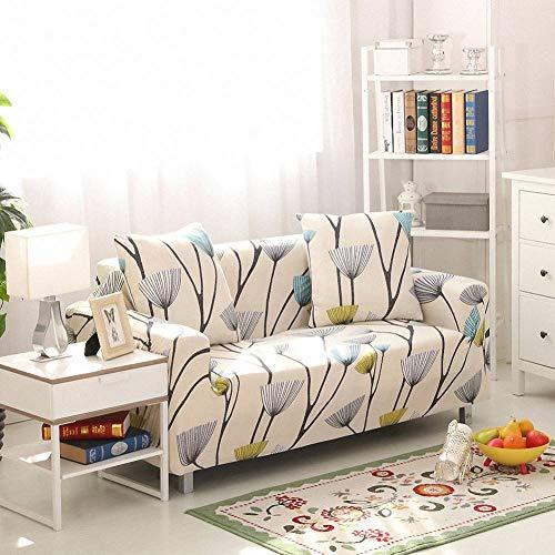 Carvapet Elasticizzato Copridivano Allungabile Universale Fodera per Divano Antiscivolo Sofa Protettore (Bianco Antico, 2 posti)
