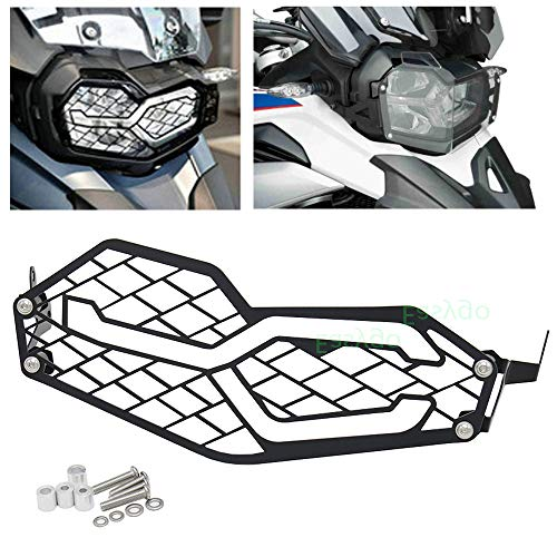 F850GS F750GS Headlight Cover Protection Grille Mesh Guard For BMW F 850 GS F 750 GS 2018 2019 (Black)