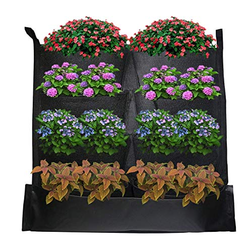 Find Discount AloPW Yard Waste Bags 8 Waterproof Pockets Garden Grow Bag for Leaves Reusable 2mm Thi...