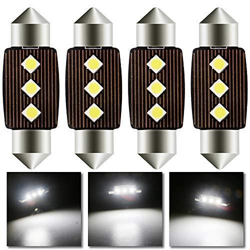Grandview 4pcs Blanco 36MM C5W Canbus Bombillas LED con 3-3030-SMD 6411 6413 6418 C5W Bombillas LED Para el Interior del Automóvil Mapa de la Cúpula Luces de la Placa de Matrícula de Cortesía