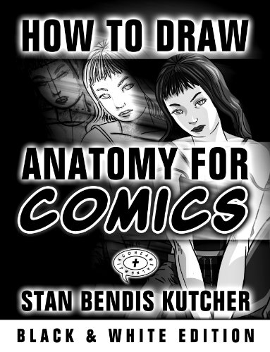How To Draw Anatomy for Comics: Easy-to-Follow Step by Step Lessons for Drawing Your Own Comic Characters (Black & White Saver Series Book 1) (English Edition)