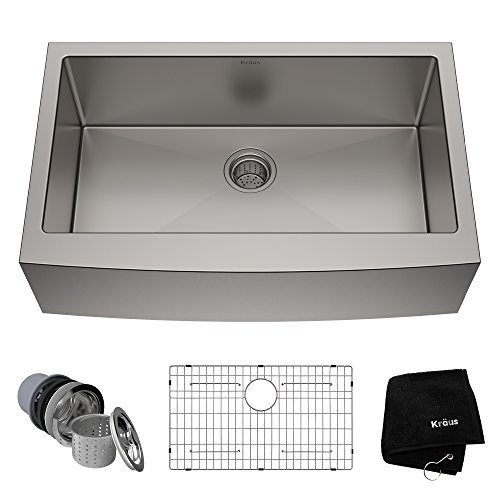 33″ X 21″ Apron Front Stainless Steel Kitchen Sink 50/50