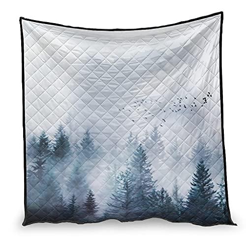 OwlOwlfan Forest and monsters - Manta de viaje súper suave y fácil de cuidar, para primavera, verano, otoño, temporada blanca, 130 x 150 cm