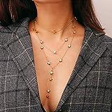 Simsly Fashion - Collar con colgante de estrella punk con borla para mujer, oro o plata, collar con varias capas, cadena larga, accesorios de joyería, gran regalo