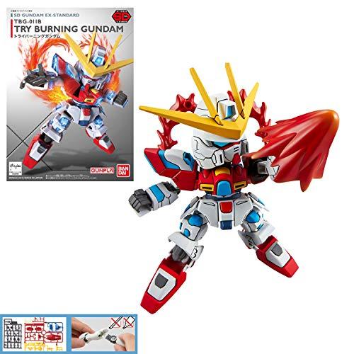 SD Gundam EX Standard Gundam Build Fighters TRY Tri Burning Gundam Plastic Model