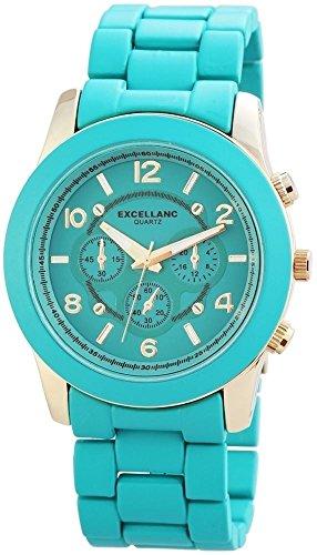 Excellanc Damen-Armbanduhr XL Analog Quarz Verschiedene Materialien 150806000010