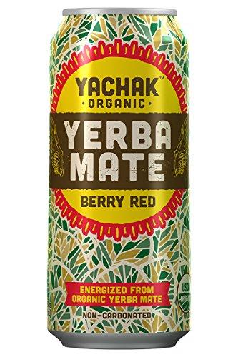 Yachak Yerba Mate Drink, Berry Red, 15.5 Fl Oz, Pack of 12