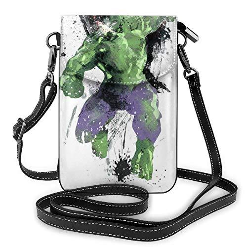XCNGG Monedero pequeño para teléfono celular Watercolor Hulk Cell Phone Purse Shoulder Bag Travel Daypack Women Girls Party Gift