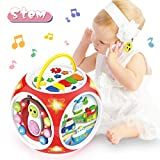BAOLI 6 in 1 Baby Musical Hexahedron Activity Cube Center with Light&Music, Kids Activity Center for Toddlers, Preschool Educational Music Toy Gifts for 1 2 Years Old Boys & Girls(Random Color)