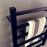 Toallero eléctrico negro, Calentador de toallas de lujo, Toallero eléctrico de acero...