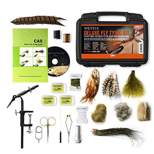 WETFLY Deluxe Fly Tying Kit with Book and Dvd. This Is Our Most Popular Fly Tying Kit.