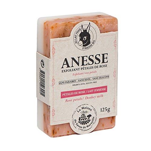 Savon exfoliant Rose/Lait Frais d'Anesse Bio - 125gr