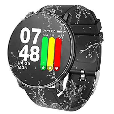 Smart Watch 2019 Newest Design Sports Fitness Tracker Heart Rate Activity Tracking Touchscreen Band Sleep Monitoring Long Battery Life Compatible Android & iOS Smartphones